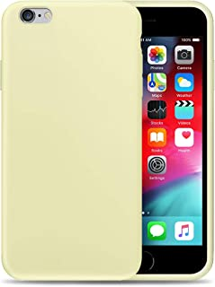 Compatible with Apple iPhone 6P Liquid Silicone Phone Case Gel Rubber Full Body Protection Shockproof Cover Case Drop Protection for Apple iPhone 6P Yellow