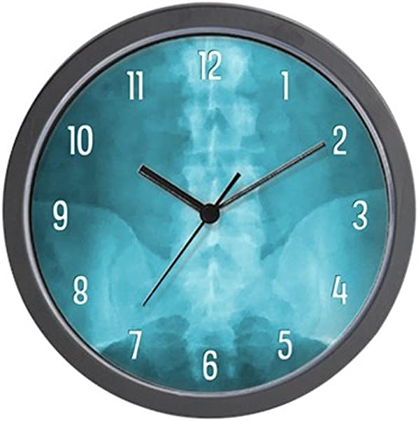CafePress 蓝色数字 x射线艺术独特装饰 10 挂钟