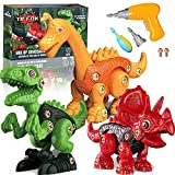 Dinosaur Toys Gifts for 3 4 5 6 7 8 Year Old Boys Girls Take Apart Toys for Kids 3-8 STEM Toys Building Toys Construction Educational Toys Learning Toy Set with Electric Drill Birthday Xmas Gifts