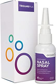 TriGuard Plus Nasal Spray | Structured Silver Olive Leaf Extract European Elderberry - 2 oz.