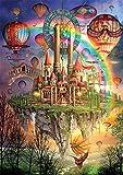 PROW Colorato di Legno Puzzle, Fantasia Arcobaleno Isola Caldo Aria Palloncini Palazzo - Puzzle, 1000 Pezzi, Dimensione Finale 30''X20'', Basswood Premio qualità