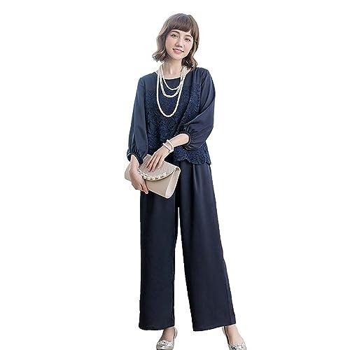 def27b91bb2395 [YOUHA] パーティードレス パンツドレス 結婚式 大きいサイズ 袖あり セットアップ ケープ レース