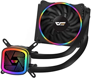 darkFlash DT2120 120mm Water Liquid Cooling AIO Cooler Radiator with 120mm LED Rainbow Lighting Case Fan CPU Cooler (DT120...