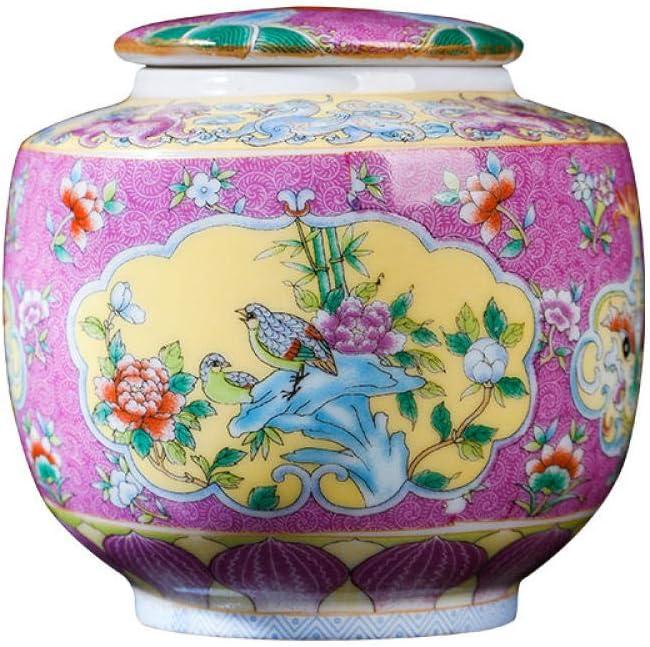 YANGHONDD Pink Enamel Ceramic Small Over item handling Tea cans Long Beach Mall Travel Storage