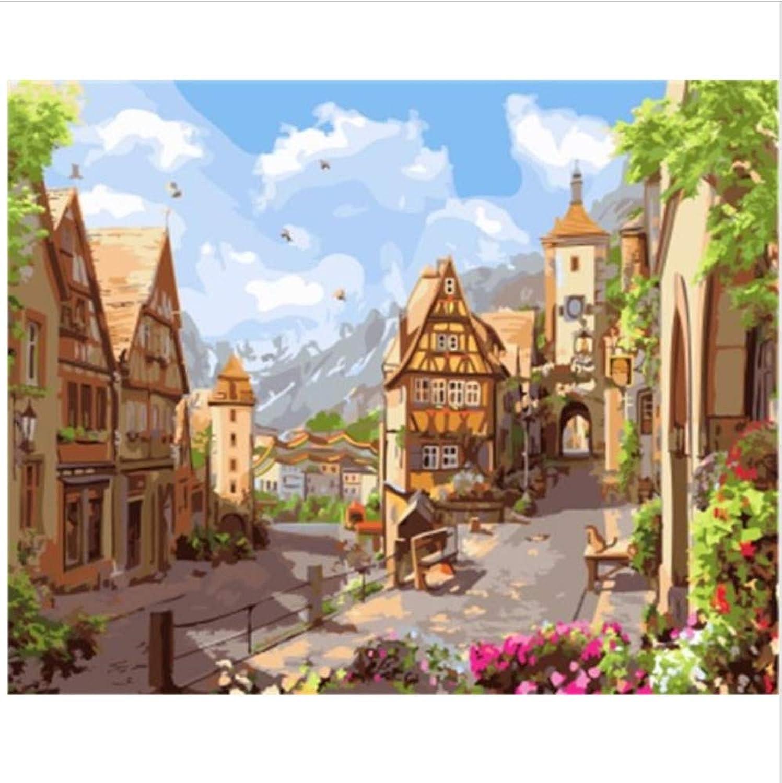 CZYYOU Landschaft DIY Malen Nach Zahlen Malen Und Kalligraphie DIY Digital Oi Malen Nach Zahlen Wohnkultur 40x50cm-Rahmenlos B07P798FV4 | Discount