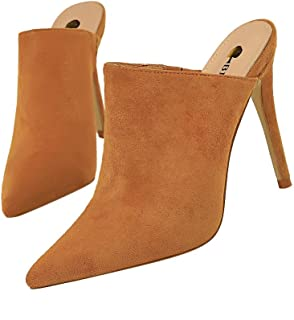 GLJJQMY High-Heeled Sandals, Twine, Satin, Metal Chain, Cross Strap, Women's Wedge, Bohemian Sandals, 13cm Women's Sandals (Color : Yellow, Size : 35)