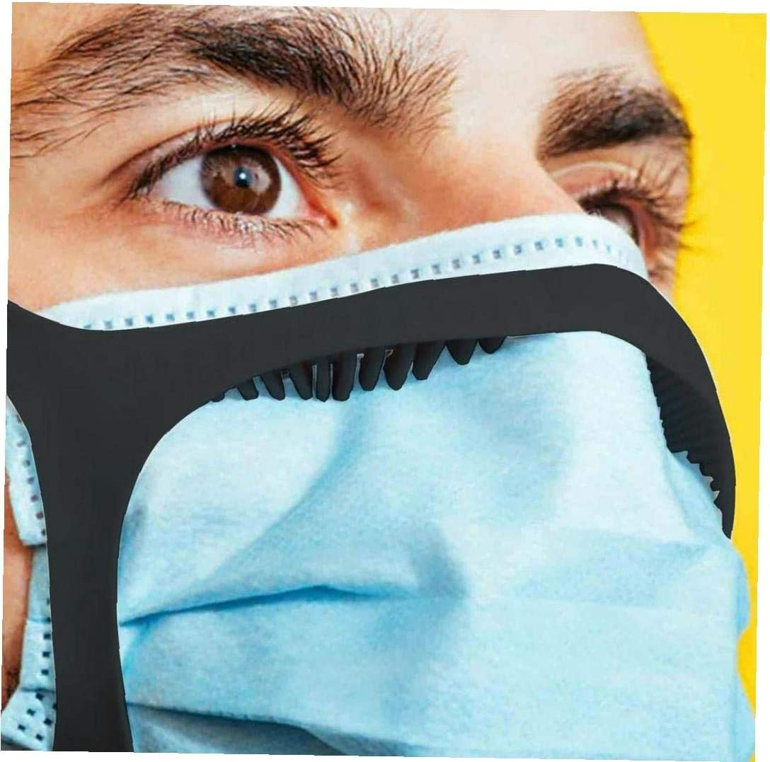 Sangle de Masque antibu/ée t/ête r/églable Sangle Accessoire pour Ceux Qui Portent des Masques pour Un Temps Long /à loreille D/écompression Noir