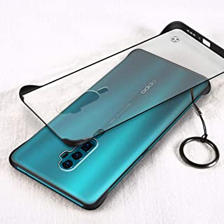 YEESOON Oppo Reno 10x zoom Case, Ultra Slim Matte Translucent Hard PC Case Four Corners Shockproof Back Cover with Ring La...