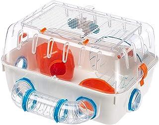 Feplast Jaula para hámsteres Combi 1, para pequeños roedores, Plástico Robusto, Techo con Rejilla abrible, Tubos y Accesor...