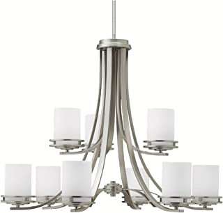 Chandeliers 9 Light with Brushed Nickel Finish Medium Base Bulb 33 inch 900 Watts
