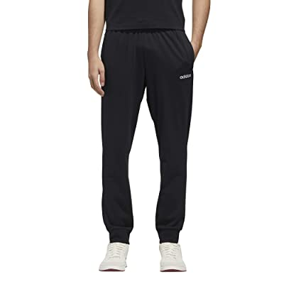 adidas Essential Single Jersey Jogger Pants (Black/White) Men