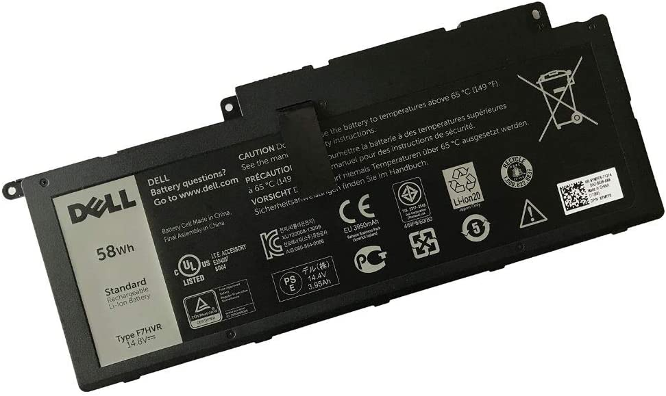 DELL F7HVR Notebook Battery 14.8V 58WH for Dell Inspiron 15 7537 Dell Insprion 17 7737 Best OEM Quality
