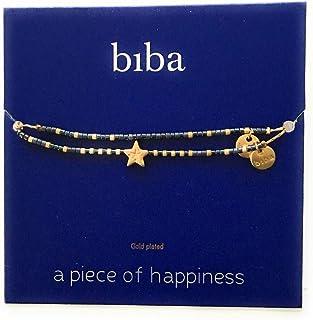 Biba Experience Modeschmuck Glassteine lange Kette I LOVE BASIC Muschel Rosa
