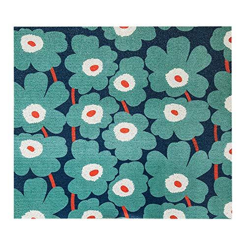 Alfombra colchón patrón de Flores Tierra Alfombra de Corte Antideslizante Alfombra Mate-K_70x120cm