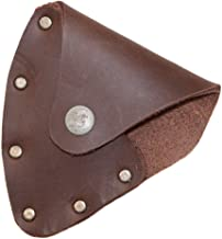 Hide & Drink, Leather Axe Head Mask/Lumberjack/Protector/Case/Cover/Sleeve/Accessories, Handmade Includes 101 Year Warranty :: Bourbon Brown