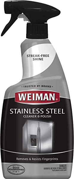 Weiman Stainless Steel Cleaner And Polish Streak Free Shine For Refrigerators Dishwasher Sinks Range Hoods And BBQ Grills 22 Fl Oz