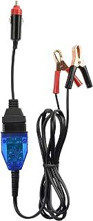 ALLOSUN Cabo automotivo de bateria de 12 V para economia de memória, conector OBD2 com clipe jacaré e adaptador de isqueir...