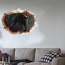 LIOOBO 1 peça Awful 3D Horrible Terrific Realístico PVC Halloween Gato Fantasma Decoração de parede Papel de parede Arte