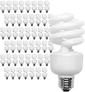 100 Watt CFL Spiral, 48 Pack, Soft White (2700K) Light Bulbs