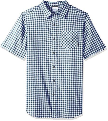 IZOD Men's Big & Tall Big and Tall Button Down Long Sleeve Stretch Performance Plaid Shirt, FJORD BLUE, Large