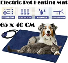 Waterproof Electric Pet Heating Pads Heated Dog Cat Bed Mat Thermal Protection Puppy Kitty Heater Safe AU Standard (65x40cm Blue)