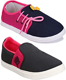 Shoefly Women Multicolour Latest Collection Sneakers Shoes- Pack of 2 (Combo-(2)-11028-764)