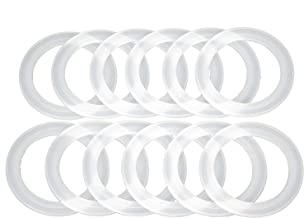 Reusable Snap Fit Seals by County Line Kitchen for Ball Plastic Mason Jar Lids, Gasket Will Not Fall Out, Regular Mouth, 12 Seals