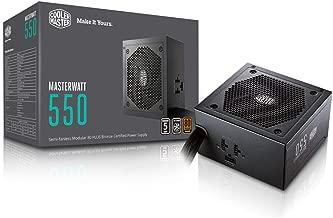 MasterWatt 650 Watt Semifanless Modular Power Supply, 80 PLUS Bronze Certified Power Supply for Computers (Renewed)
