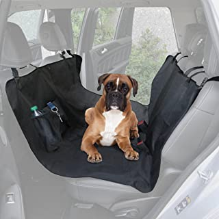 BDK PS-152 Travel Dog Car Seat Cover-Universal Black Oxford Waterproof Protector for Sedan, Truck and SUV (Bench-Premium)