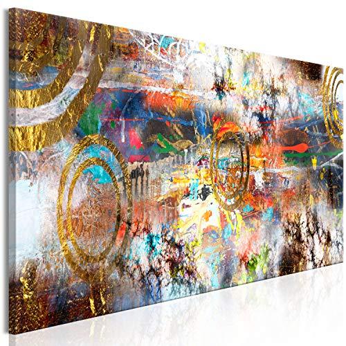 murando Quadro Astratto 150x50 cm Stampa su tela in TNT XXL Immagini moderni Murale Fotografia Grafica Decorazione da parete 1 pezzo Motivo geometrico colorato come dipinto a-A-0739-b-a