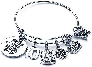 M MOOHAM Birthday Gifts for Women Girls Bracelet - Expandable Charm Bracelets 10th 20th 30th 40th 50th 60th 70th 80th 90th...