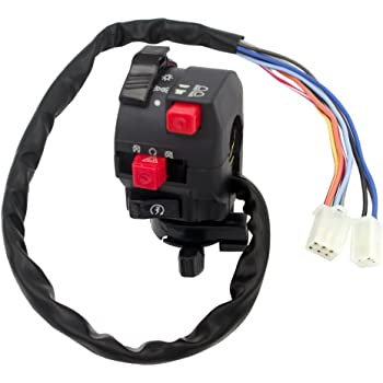 amazon.com: royitay 5-function 9 wire chinese atv mini quad left side  control switch assembly kill start light choke switch for 150cc 200cc 250cc  300cc atvs: automotive  amazon.com