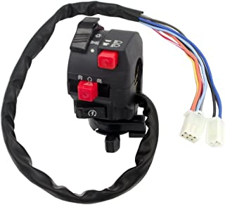 Royitay 5-Function 9 wire Chinese ATV Mini Quad Left Side Control Switch Assembly Kill Start Light Choke Switch for 150cc 200cc 250cc 300cc ATVs