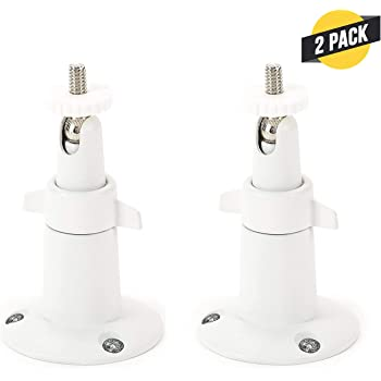 Wasserstein Adjustable Metal Wall Mount Compatible with Arlo Ultra, Pro, Pro 2, Pro 3 & Other Compatible Models (2-Pack, White)