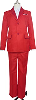 Gourmet Shuu Tsukiyama Uniform Red Suit Cosplay Costume
