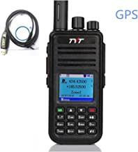 TYT MD-UV380 Dual Band VHF/UHF 136-174Mhz/400-480Mhz Handheld Two Way Radio with Programming Cable & GPS
