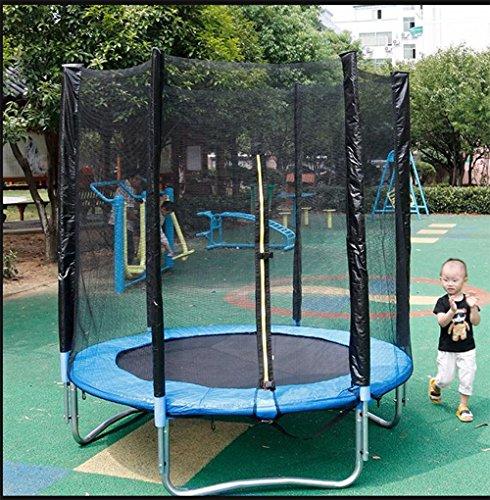 Wly&Home Tuinblad Leaps, Kindertrampoline, Volledige trampoline, Veiligheidsnet, Gevulde Netto Kolom En Rand Cover 180Cm In diameter, Blauw