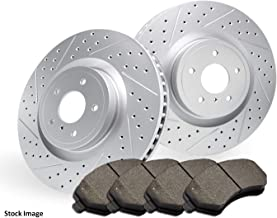 For Both Left and Right One Year Warranty Stirling 2016 for Nissan Altima Front Premium Quality Cross Drilled and Slotted Coated Disc Brake Rotors And Ceramic Brake Pads -
