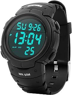 Reloj Digital Hombre,Welltop Reloj Deportivo Hombre Reloj cronometro con Temporizador de Alarma, dial Grande,Impermeable a...