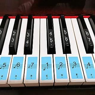 JOELELI Piano Keyboard Stickers for 88/61/54/49/37 Key, 18 P