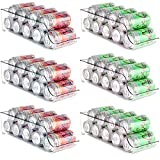 Cadriy Set Of 6 Fridge Organizer,soda can organizer for refrigerator,refrigerator organizer bins,Storage & Dispenser bins & Organizer for Freezer,Pantry,Kitchen,Countertop,Cabinets,Beverage,Canned