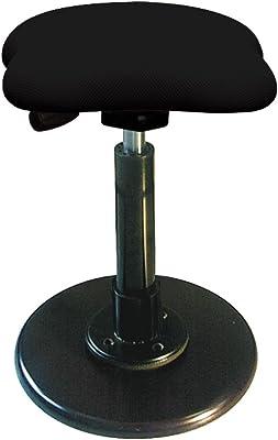 ルネセイコウ 日本製 ツイストスツール ラフレシア3 ブラック/ブラック 幅33×奥行33×高さ49.5-68.5cm TWS-190