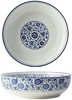 Ceramic Bowl of Noodle Soup Rice Dessert Salad Household Tableware Durable and Sturdy ( Color : C-12 inches )
