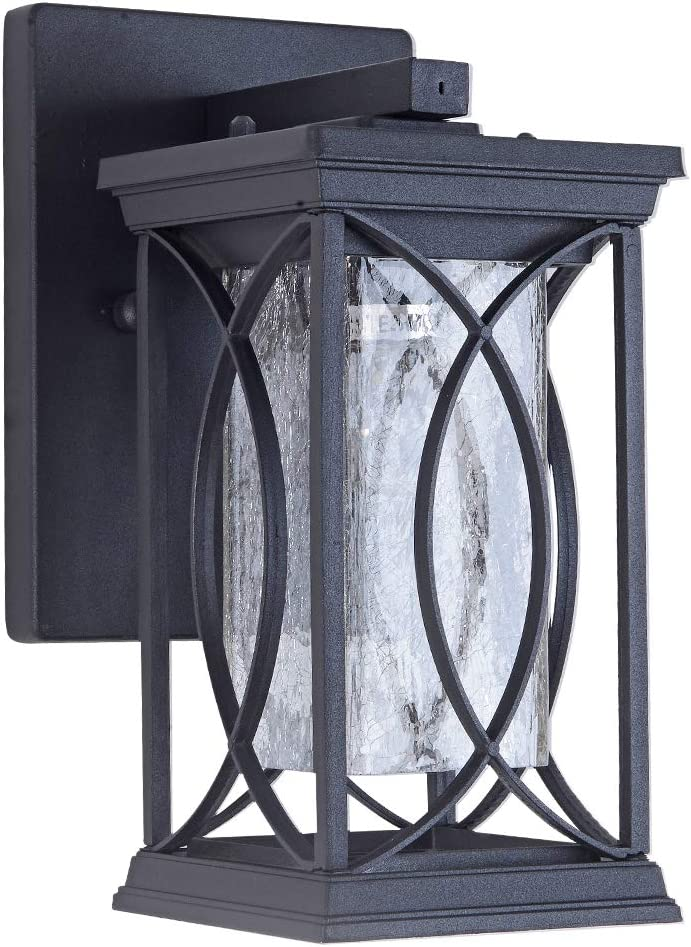 Modern Outdoor Wall Light Exterior Light Fixtures Black Aluminum with Crack-Like Glass Create Gorgeous Lighting/Effects UL and IP65 Waterproof Wall Sconce Outdoor for Garage Front Porch Lighting