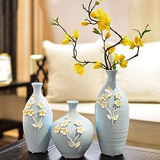 Decoracion Jarrones Creativa de cerámica una decoración minimalista moderna florero de tres piezas Conjunto Primavera 1 Ja...