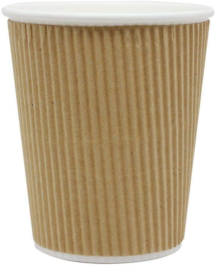 SafePro 12 Be super welcome oz Kraft Ripple Paper Cups and NEW Tea Coffee Hot