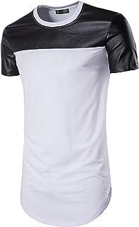 Sportides Mens Hipster Hip Hop Longline Slim Fit Short Sleeve T-Shirt Tee Tops JZA041