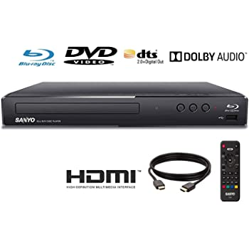 (Renewed) Sanyo FWBP505F Blu-ray Player 6FT HDMI Cable Included