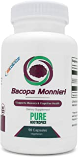 BaCognize® Bacopa Monnieri 300 mg – Improve Memory & Learning – Reduce Stress & Anxiety – 90 Vegetarian Capsules – Pure Nootropics