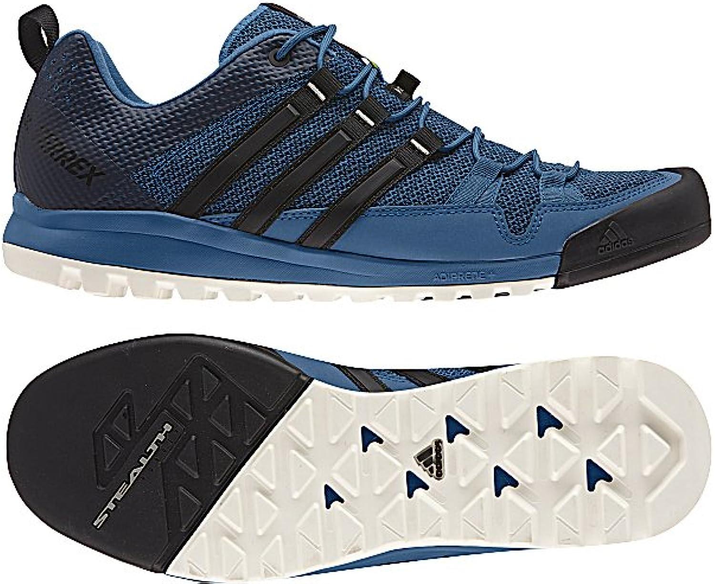 Adidas Sport Performance Men's Terrex Solo Hiking Sneakers, blueee Textile, Rubber, 10 M